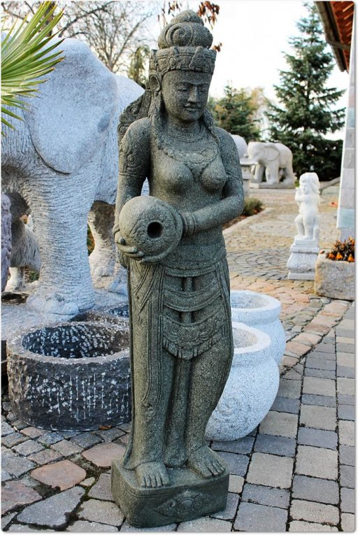 Steinfigur shiva for Gartengestaltung unterschiedliche hohen