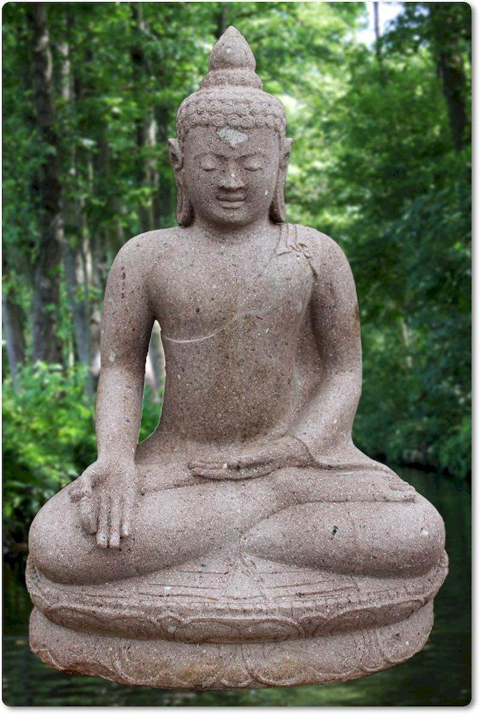 Buddhafigur Steinfigur Buddha
