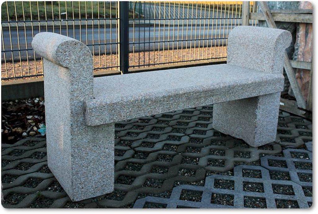 Gartenbank mit lehne steinbank - Gartenbank stein ...