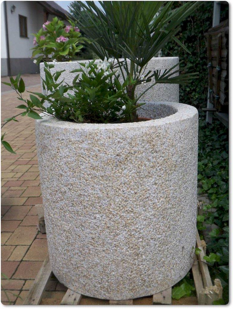 Granitk bel rund f r den garten for Gartengestaltung rund