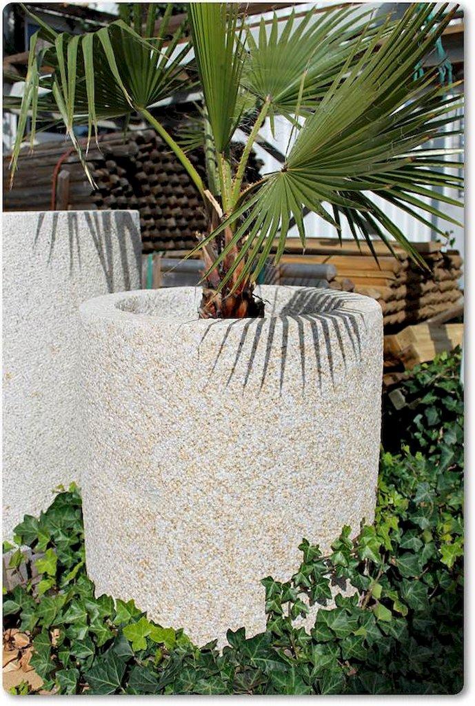 Granitkübel Rund für den Garten