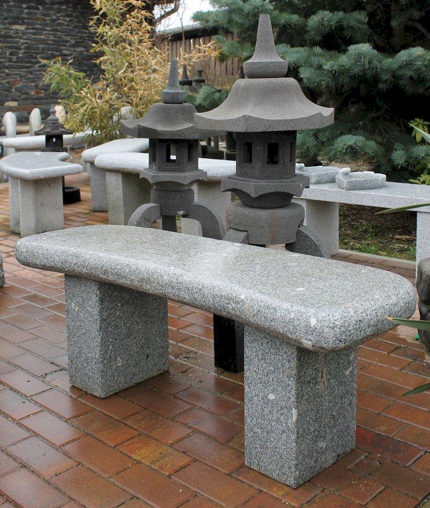 natursteinbank aus granit f r den garten. Black Bedroom Furniture Sets. Home Design Ideas
