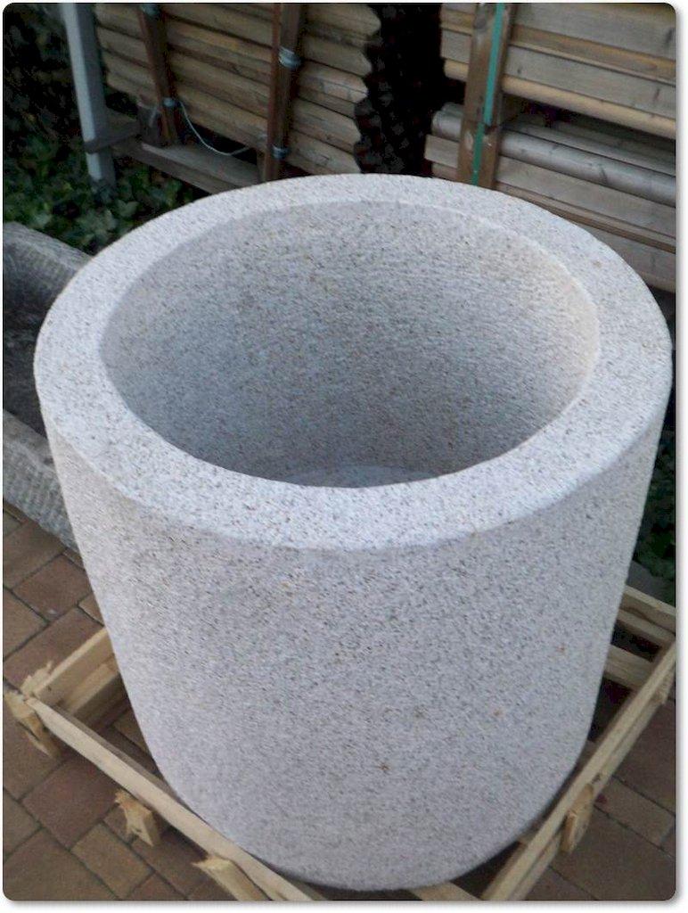 Natursteink bel pflanzk bel steintrog granittrog for Tonscherben deko