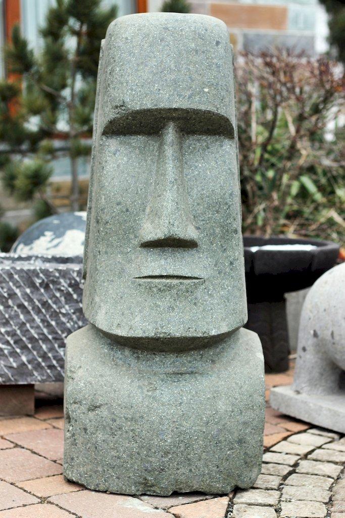 Gartenfiguren Skulpturen Garten Terrasse Moai Kopf Naturstein 45 Cm Osterinseln Lavastein Skulptur Steinfigur Garten Deko Fr Regnum Be