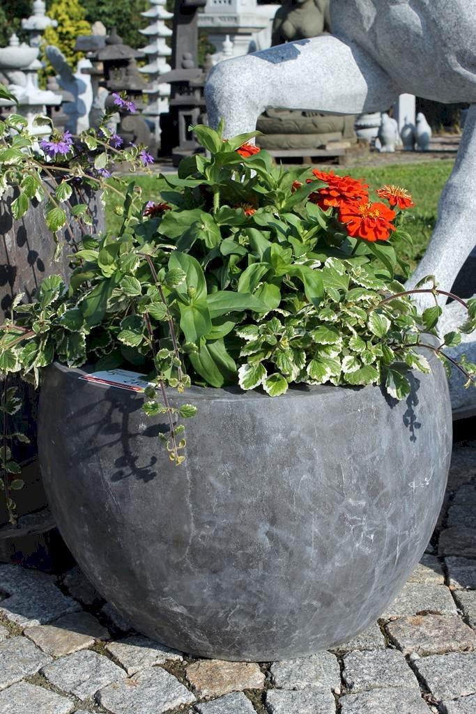 pflanzk bel kalkstein pflanztrog pflanzgef terrasse garten trog bepflanzung ebay. Black Bedroom Furniture Sets. Home Design Ideas