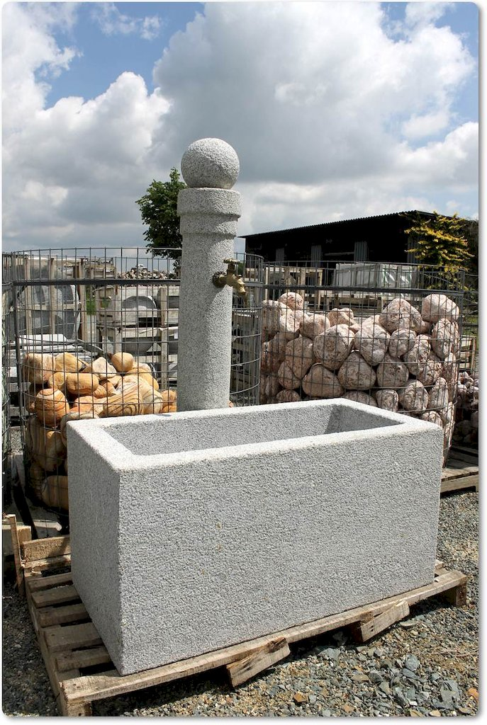 steinbrunnen aus granit brunnen gartenbrunnen steinbrunnen naturstein becken ebay. Black Bedroom Furniture Sets. Home Design Ideas