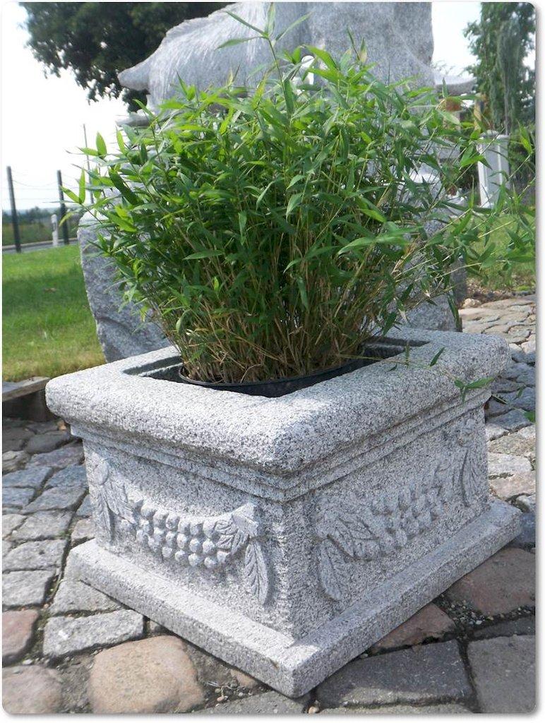 Steingef pflanzk bel pflanztrog granittrog bepflanzung for Esszimmertisch aus granit