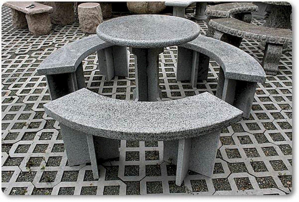 steinm bel aus granit f r den garten. Black Bedroom Furniture Sets. Home Design Ideas