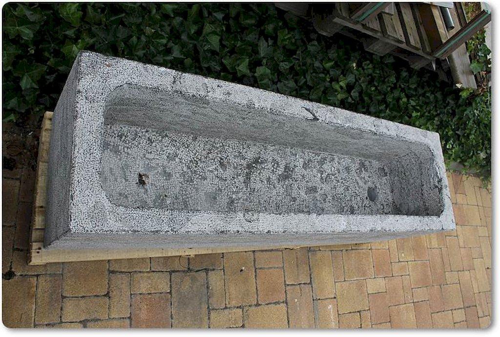 steintr ge aus naturstein trog pflanzk bel granit kalkstein ebay. Black Bedroom Furniture Sets. Home Design Ideas