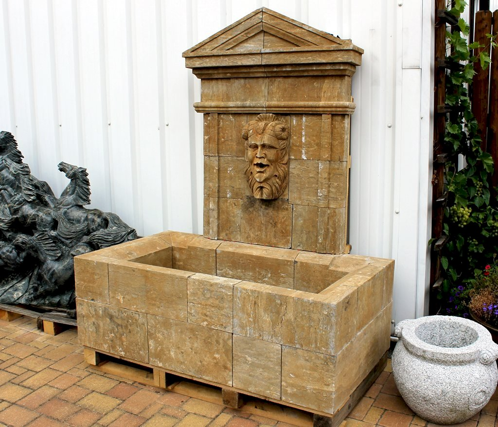 wandbrunnen antik zierbrunnen gartenbrunnen brunnen. Black Bedroom Furniture Sets. Home Design Ideas